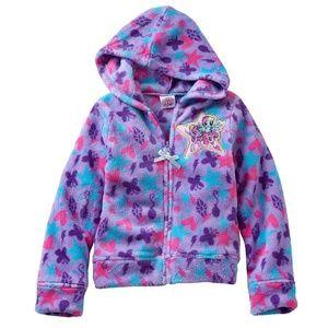 My Little Pony Purple Fleece Hooded Jacket 2T 3T